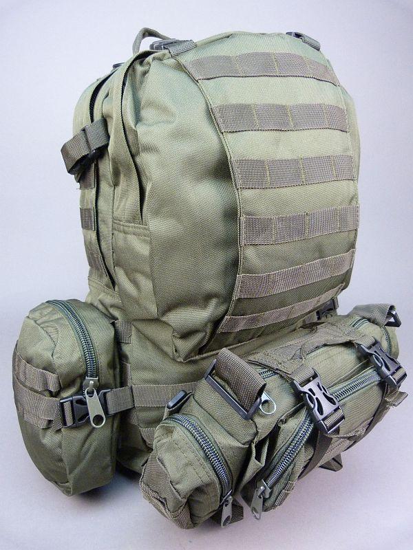 ff52fbe2a2d 36 liter rugtas / rugzak, molle, nieuw, zwart of groen, nieuw ...